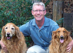 President Craig March with Lucy and Angel - March Direct Marketing